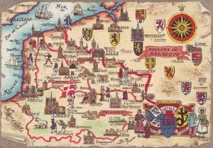 Carte ancienne de l'Artois
