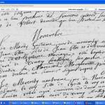 Acte de naissance de Jean Blot à Crucey en 1712
