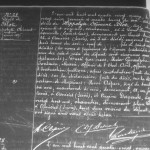 Acte de décès de Hippolyte Clément Blot, père de Henri Blot le vampire de Saint-Ouen, à Asnières-sur-Seine en 1895