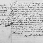 Acte de naissance de Jeanne Marie Banières, future épouse de Charles Henry Blot, fils du vampire de Saint-Ouen