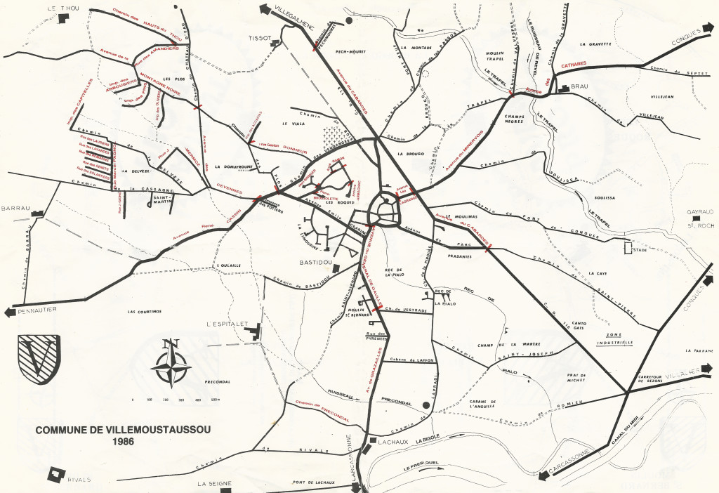 Carte de Villemoustaussou de 1986